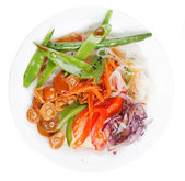 Rice noodles with vegetables — ストック写真