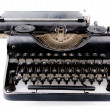Retro vintage typewriter side view — Stock Photo