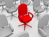 Red chair — Stock fotografie