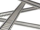 The railways — Stock Photo