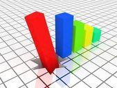 Wykres spada — Zdjęcie stockowe