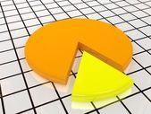 The yellow diagram — Stock Photo