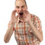 Man screaming — Stock Photo