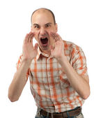 Man screaming — Stock Photo
