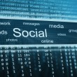 Stock Photo: Social media, technology background