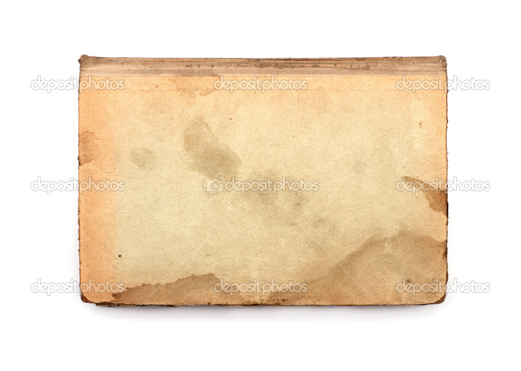 Old book cover is isolated on a white background — Stock Photo #6827568