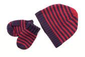 Bonnet tricoté avec des bandes isolées — Photo