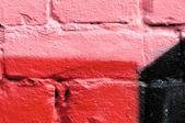 Muro di mattoni verniciati — Foto Stock