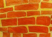 Texture painting a brick wall — Stock Photo