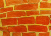 Texture painting a brick wall — Stock Photo
