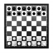 Chess isolated on a white background — Foto Stock