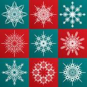 Decorative vector Snowflakes set — Stock Vector