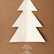 Christmas tree made ​​of paper — Stock Photo
