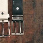 Belts On Wood — Stock Photo