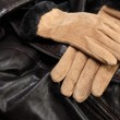 Gloves On Leather — Stock Photo