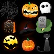 Halloween set — Stock Vector #7026696