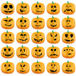 Halloween pumpkins — Stock Vector #7026710