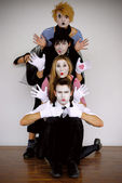 Mime actors — Stock Photo