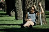 積極的な女の子 — ストック写真