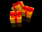 Gifts. 3d — Stock Photo