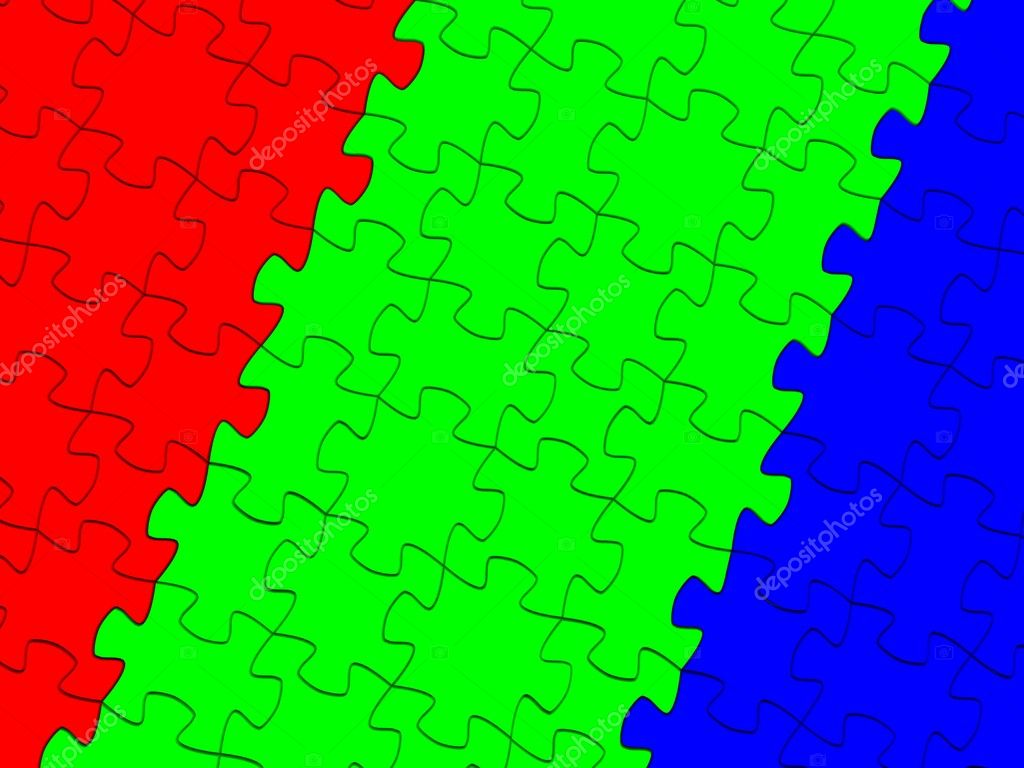 RGB puzzle piece. 3d — Stock Photo #7961707