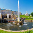 Grand Cascade of fountains at Peterhof — Foto de Stock