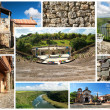 Collage with  village Altos de Chavon — Stock Photo