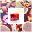 Collage with sangria — Stock Photo