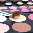 Professional make-up brush on corrector — Foto de Stock