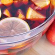 Stock Photo: Sangrired wine with fruits