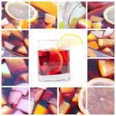 Sangria collage — Stock Photo
