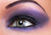 Smokey make-up of female eye — Stock Photo