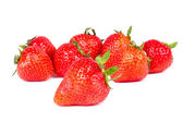 Strawberries on white — Stock Photo