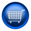 Shopping cart button - Stock Photo