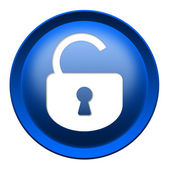 Open lock button — Foto Stock