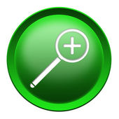 Magnifier button — Stock Photo
