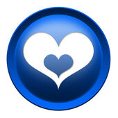 Heart button — Stock Photo