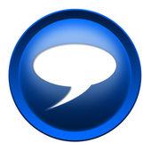 Text bubble button — Stock Photo