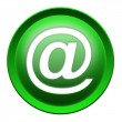 Stock Photo: Mail envelope icon button