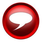 Bubbla textknappen — Stockfoto