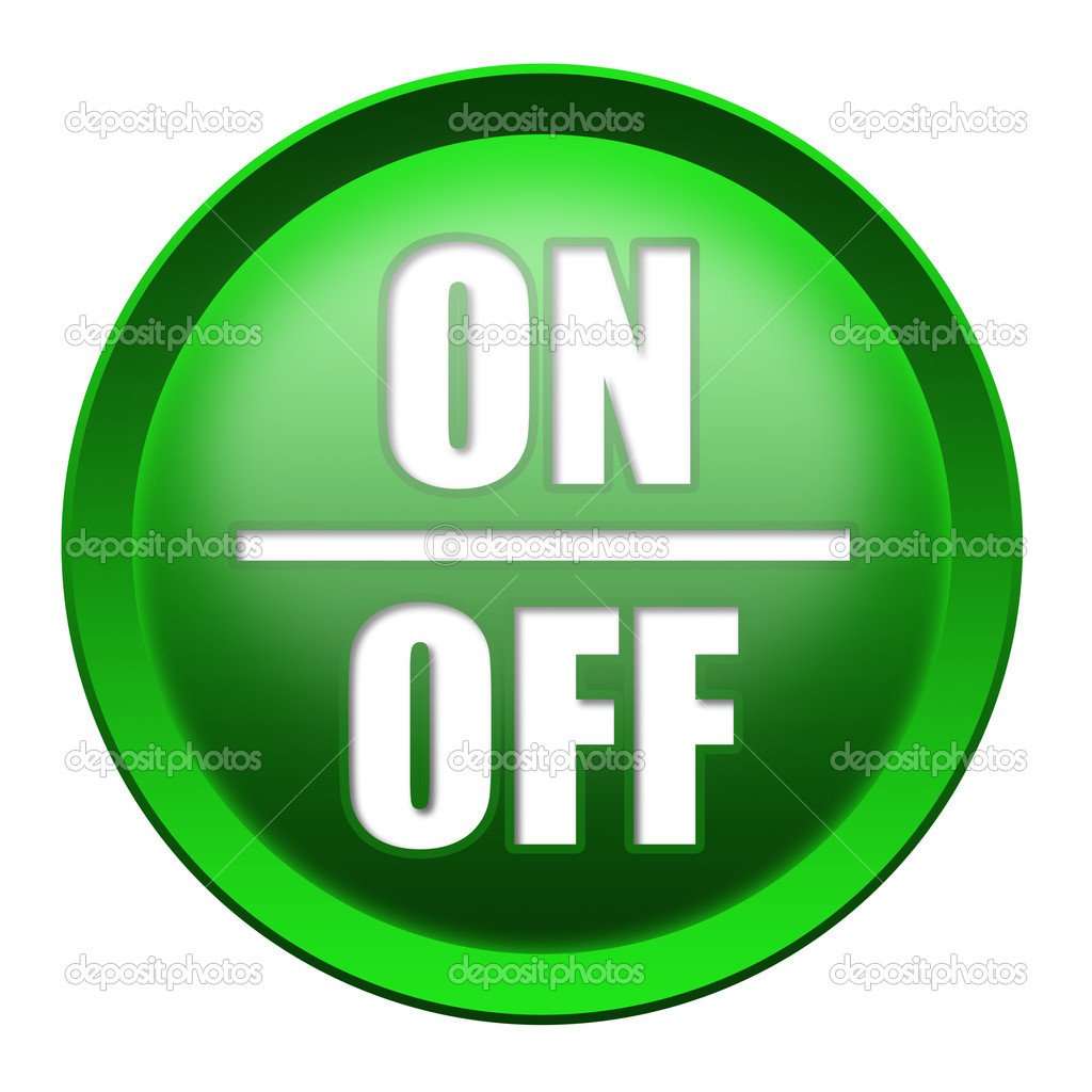 ON / OFF button isolated over white background — Stock Photo #7578567