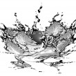Black water and water splash — Stock Photo #7238487
