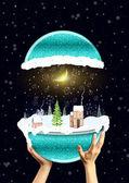 Christmas glass sphere — Stock Photo