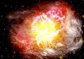 Estrellas de la galaxia de un planeta — Foto de Stock