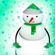 Cute Christmas snowman — Stock Photo