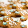 Fresh baked gingerbread men cookies — Stock Photo