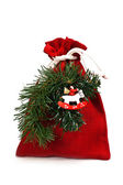 Bag of x-mas gifts — Stockfoto