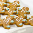 Fresh baked gingerbread men cookies — Stock Photo #7918074