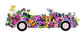 Floral convertible — Stock Vector