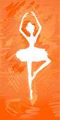 Silhouette painted ballerinas — Stock Vector